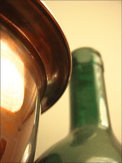 copper and glass