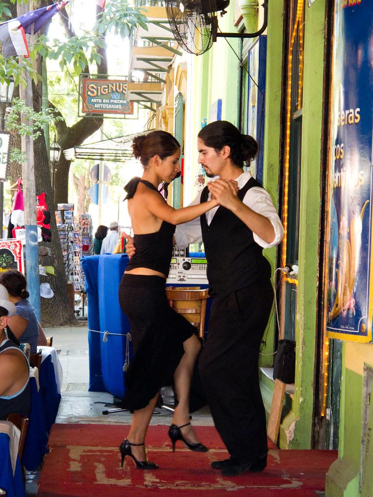 Tango in La Boca - Buenos Aires, Argentina