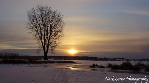 winter sun snow ontario ice water sunrise sony trenton sonya500