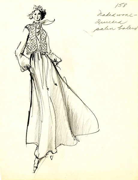 Sketch by Dominic Rompollo  (design for First Lady Rosalyn Carter)