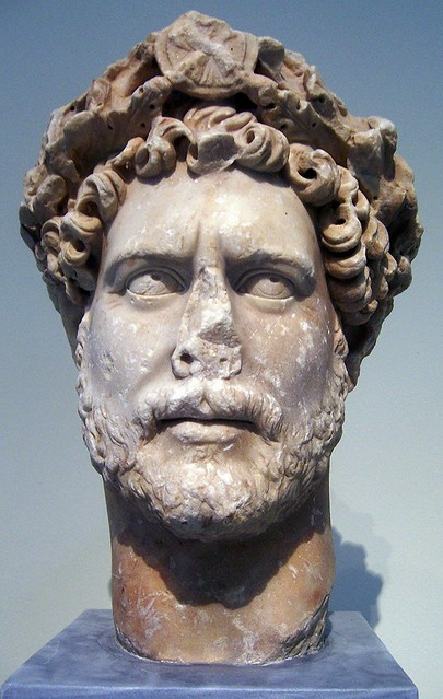 Portrait of Emperor Hadrian wearing the corona civica, National Archaeological Museum of Athens