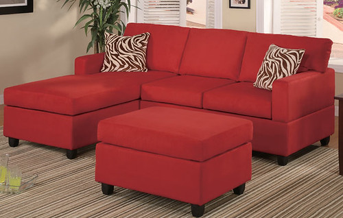 mini sectional Red $549.00