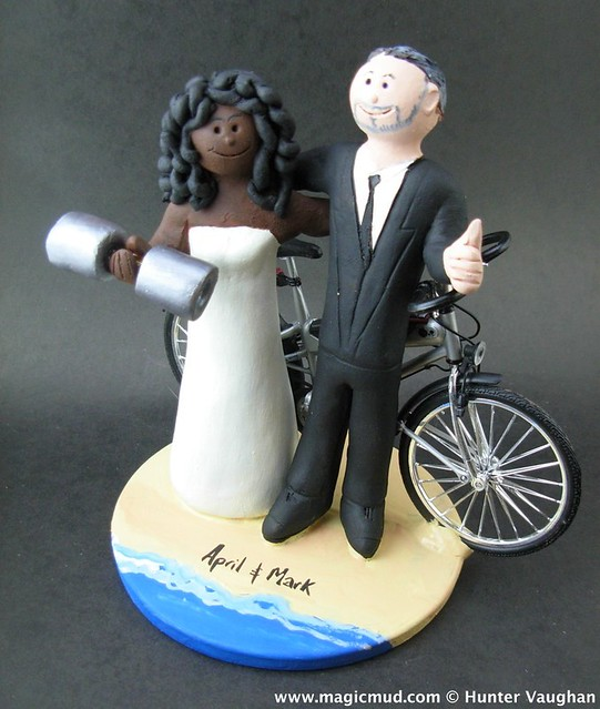 Female weight lifter wedding cake topper flickr photo sharing