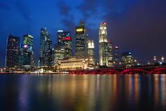 View of Singapore City Skyline From Esplanade