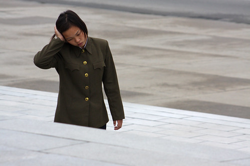 North Korea - Woman soldier