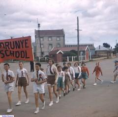 The Korunye School marching into Wasley Road in Mallala