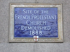 Photo of French Protestant Church blue plaque