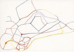 croxcard 89 grégory decock (2010) les nouveaux chemins ink on paper 100x70cm