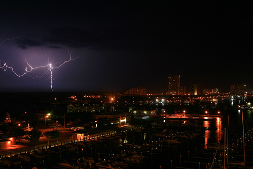 Lightning over Atlantic City by Steve Maciejewski