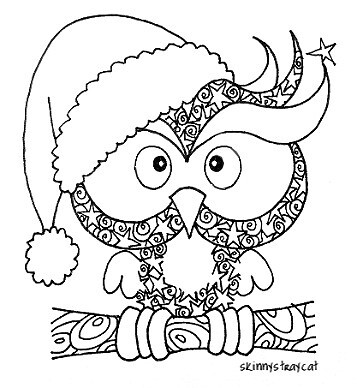 the christmas owl flickr photo sharing Owl Coloring Pages Christmas Color by Number  Christmas Owl Coloring Page