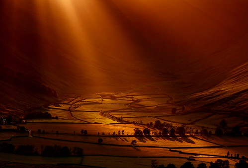 Sunlight Flooding into Great Langdale Valley (Explored)