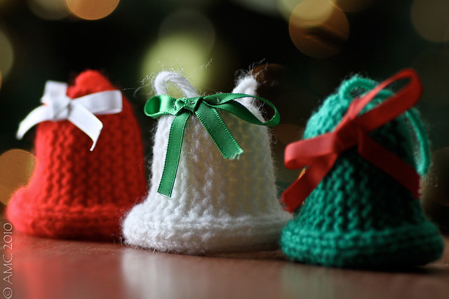 Knitting Pattern Christmas Bells : Knitted Christmas Bells Flickr - Photo Sharing!