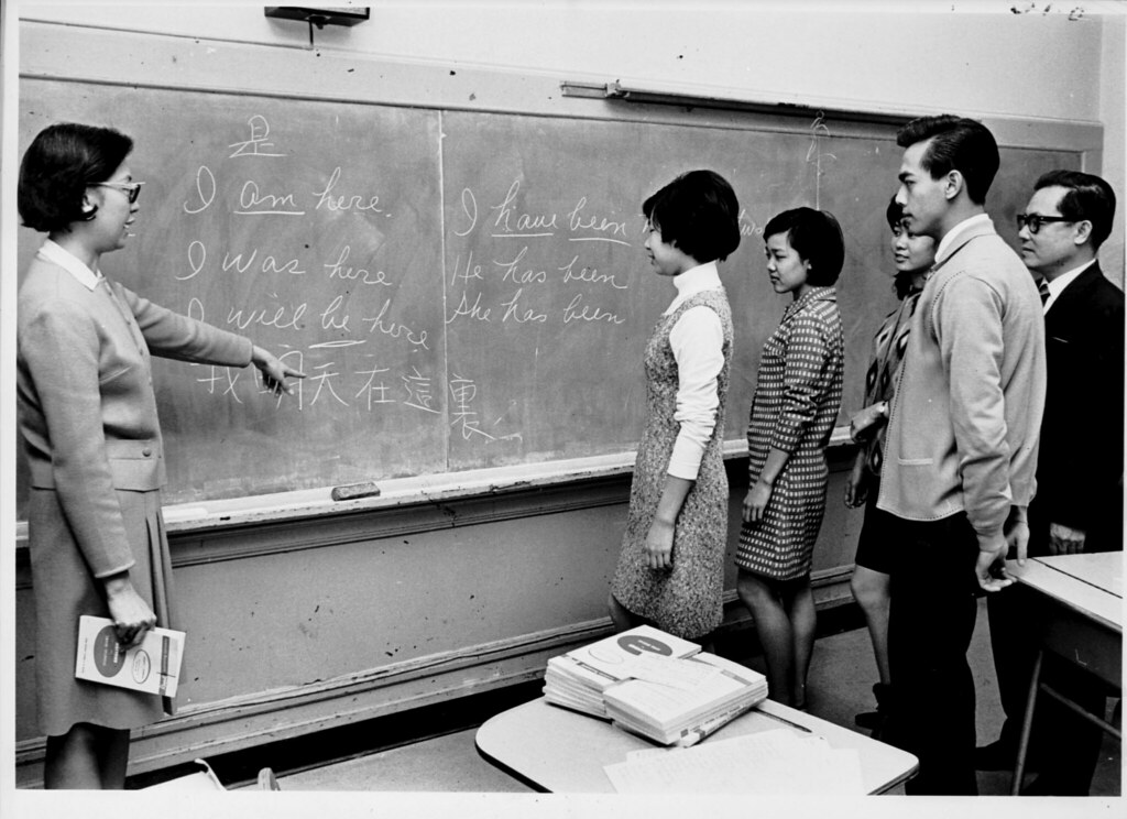 An English class for Asian American ILGWU members of Local 23-25, December 15, 1968