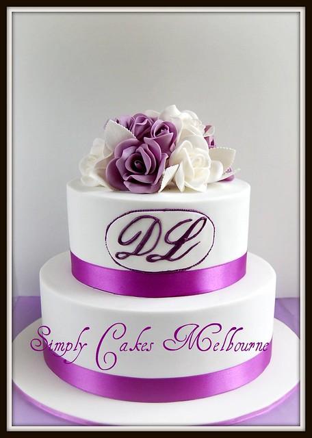 Purple Rose Wedding Cakes