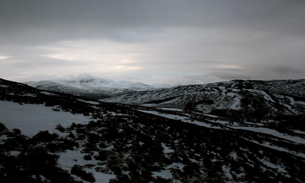 Snow storms over Lochnagar