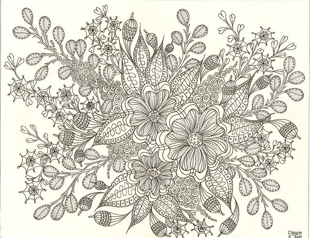 zentangle coloring pages for adults - photo#36