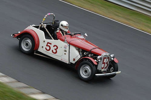 Number 53 1953 1250cc MG TD driven by Rachel Prehodka-Spindel