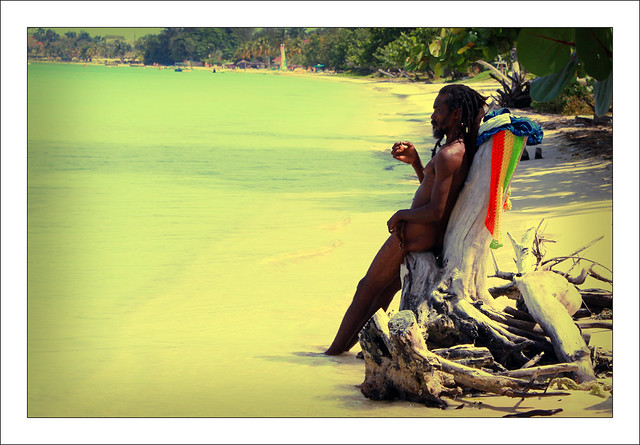 Portrait of Jamaican Rasta Man