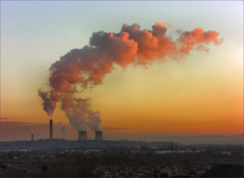 Ratcliffe-on-Soar Power Station: Frozen Sky Sunset