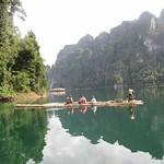 Bamboo Raft at Cheow Lan Lake