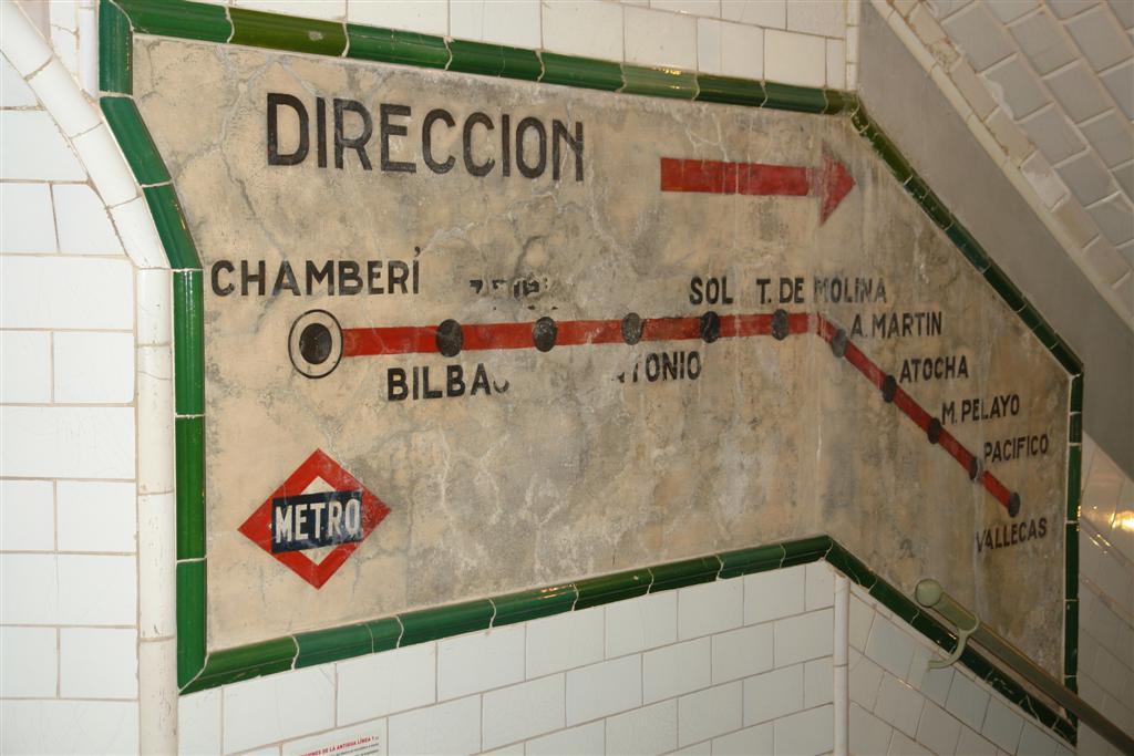 Mapa de la red de metro (línea 1) 1966 Fantasmas bajo la ciudad de Madrid - 5379837453 78bb1cb695 o - Fantasmas bajo la ciudad de Madrid
