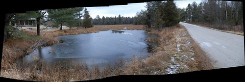 panorama pond road fall winter autostitch watsonscorners ontario dalhousietownship nikon lanarkcounty canada pano landscape