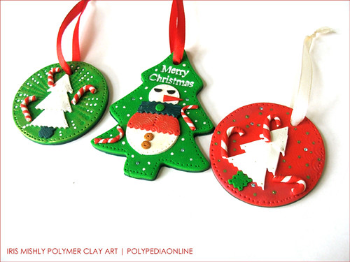 PolyPediaOnline - FREE Video * Make your own polymer clay Christmas tree decoration