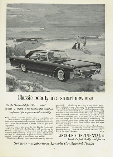1961 Lincoln Continental Ad - USA by Five Starr Photos ( Aussiefordadverts)