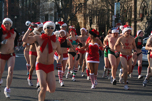 Annual Santa Speedo Run