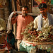Selling Fruit on the Streets of Kathmandu - Nepal