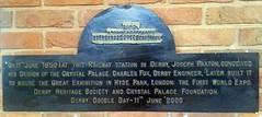 Photo of Joseph Paxton black plaque