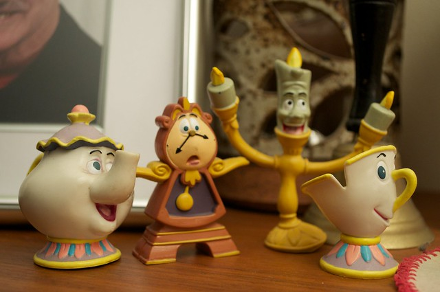 Beauty And The Beast Figurines Lumiere Chip Mrs Potts