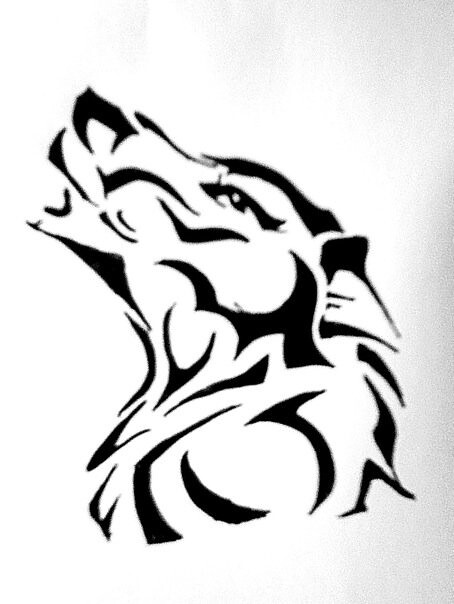 wolf tattoo design for someone