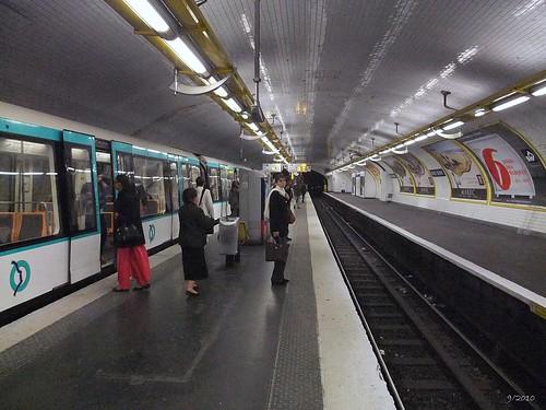 Metro station Louis Blanc: Paris: September 2010 v7
