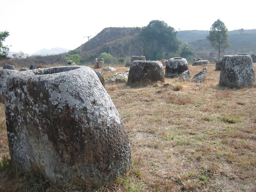 Prince Roy's  photo of the Plain of Jars, Laos.