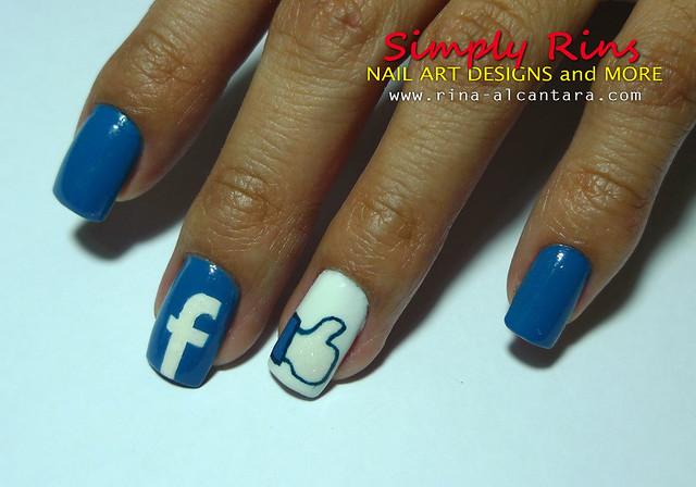 Facebook Nail Art Design 06 | Flickr - Photo Sharing!