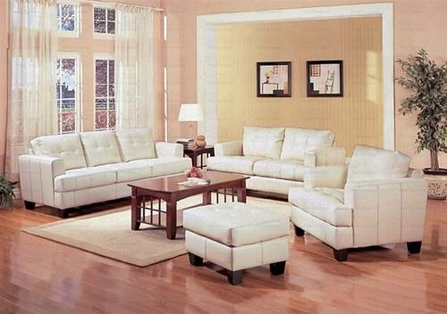 501691 white leather sofa  $675