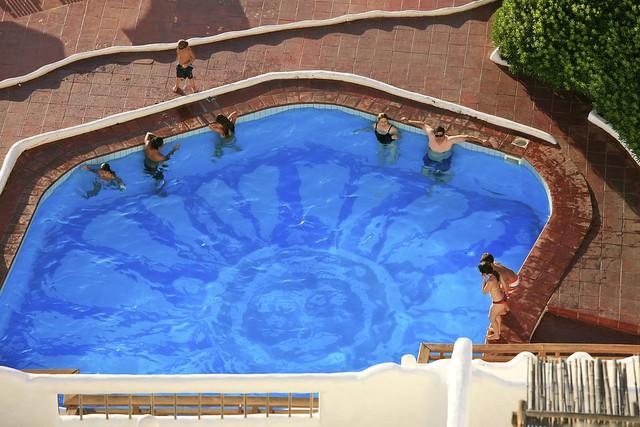 Bathing in the Pool