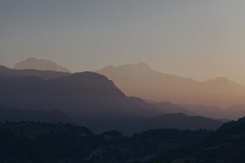 morning nepal mountains sunrise landscape iso100 hotel early lodge resort selected pokhara annapurna tigermountain ∞ annapurnarange ¹⁄₄₀₀secatf56 ‒1ev ef100mmf28lmacroisusm