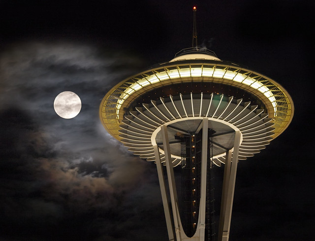 wolf moon at the needle flickr photo sharing