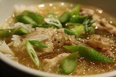 chicken & asparagus sotanghon soup