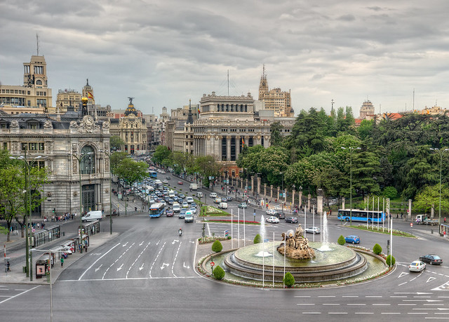 Plaza de Cibeles, Madrid (Spain), HDR