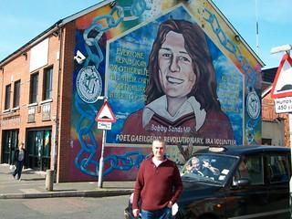 Bobby Sands mural, Falls Road, West Belfast.