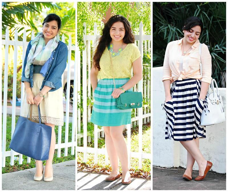 april spring outfits_stripes_scarf_pastel
