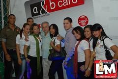 Lanzaminto con empresarios la tarjeta de llamadas A & B Card