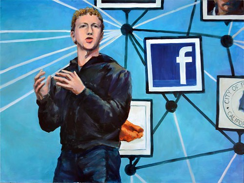 Internet memes | Zuckerberg: This Facebook Guy - oil portrait by A. Fudyma-Powers