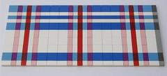 Pink/Blue/White Lego Tartan pattern