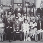 The staff of Fitzmaurice Grammar School, Bradford on Avon, Wiltshire in 1980 (the time of its closure)