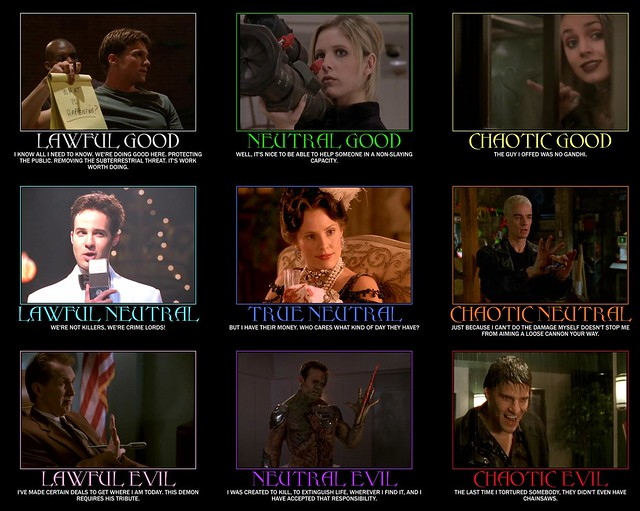 Buffy Alignment Chart Ymmv Faith Anya And Spike Move