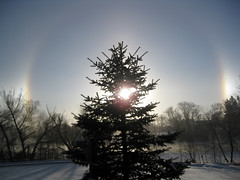 The Sundog Over the Mississippi River This Morning